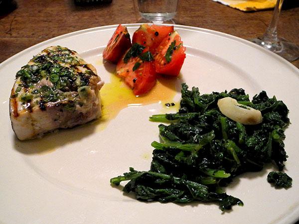 swordfish_radish_greens_tomato