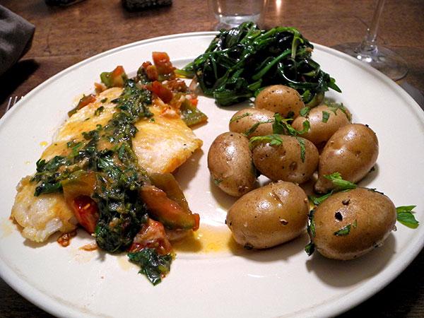 flounder_tomato_potato_minutina