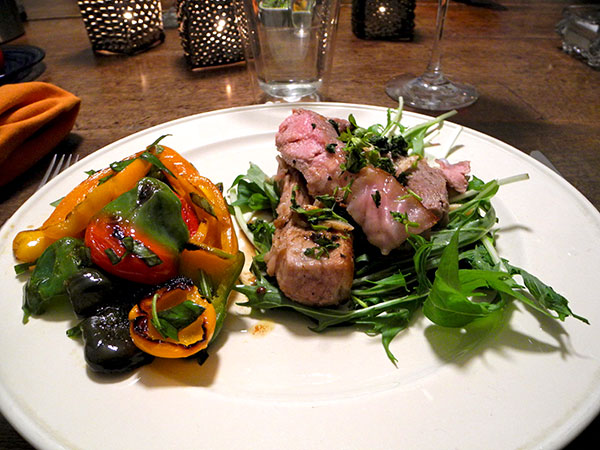 veal_chop_bell_peppers_arugula