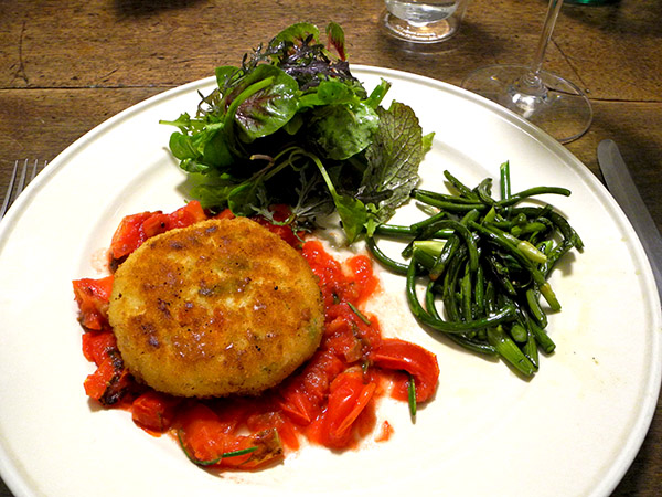 crab_cake_tomato_scapes_greens
