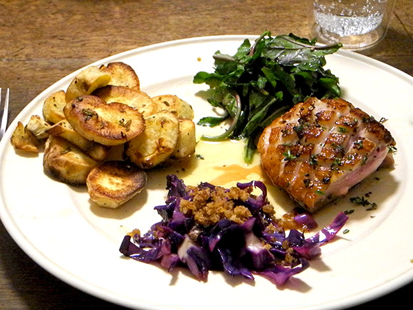 duck_red_cabbage_white_sweets_arugula