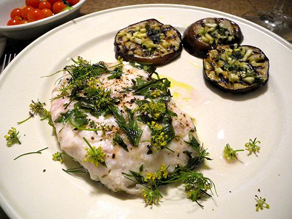striped_bass-eggplant_tomato