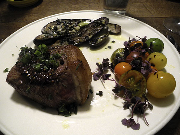 culotte grilled eggplant marjoram tomatoes micro basil hoggard
